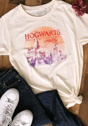 Adult Harry Potter Red Moon Hogwarts T-Shirt Upd 1