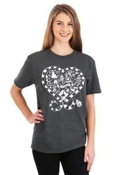 Beetlejuice Sandworm Heart T Shirt for Adults Alt 1