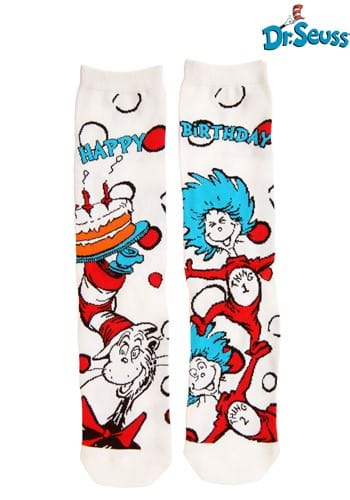Adult The Cat in the Hat Birthday Crew Socks upd