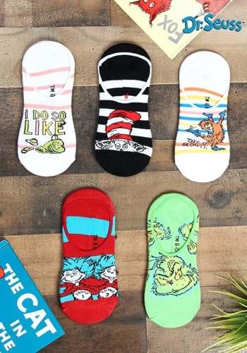 Adult Dr Seuss No Show 5 Pairs Sock Set Update
