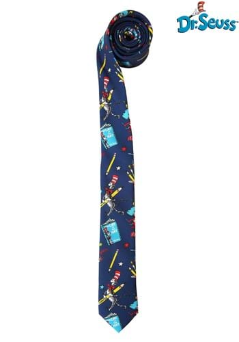 Dr Seuss Reading Pattern Necktie