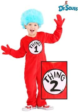 Toddler Thing 1 2 Deluxe Costume