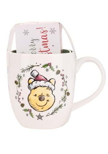 Pooh Christmas Wreath 18oz Mug & Wood Box Sign Set Main UPD