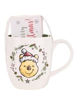 Pooh Christmas Wreath 18oz Mug & Wood Box Sign Set Main UPD