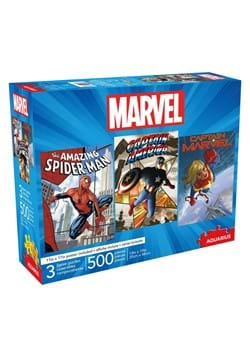 Marvel Spiderman Captain America and Captain Marvel Puzzle