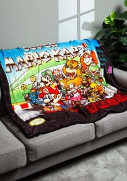 Super Mario Kart Digital Fleece Throw
