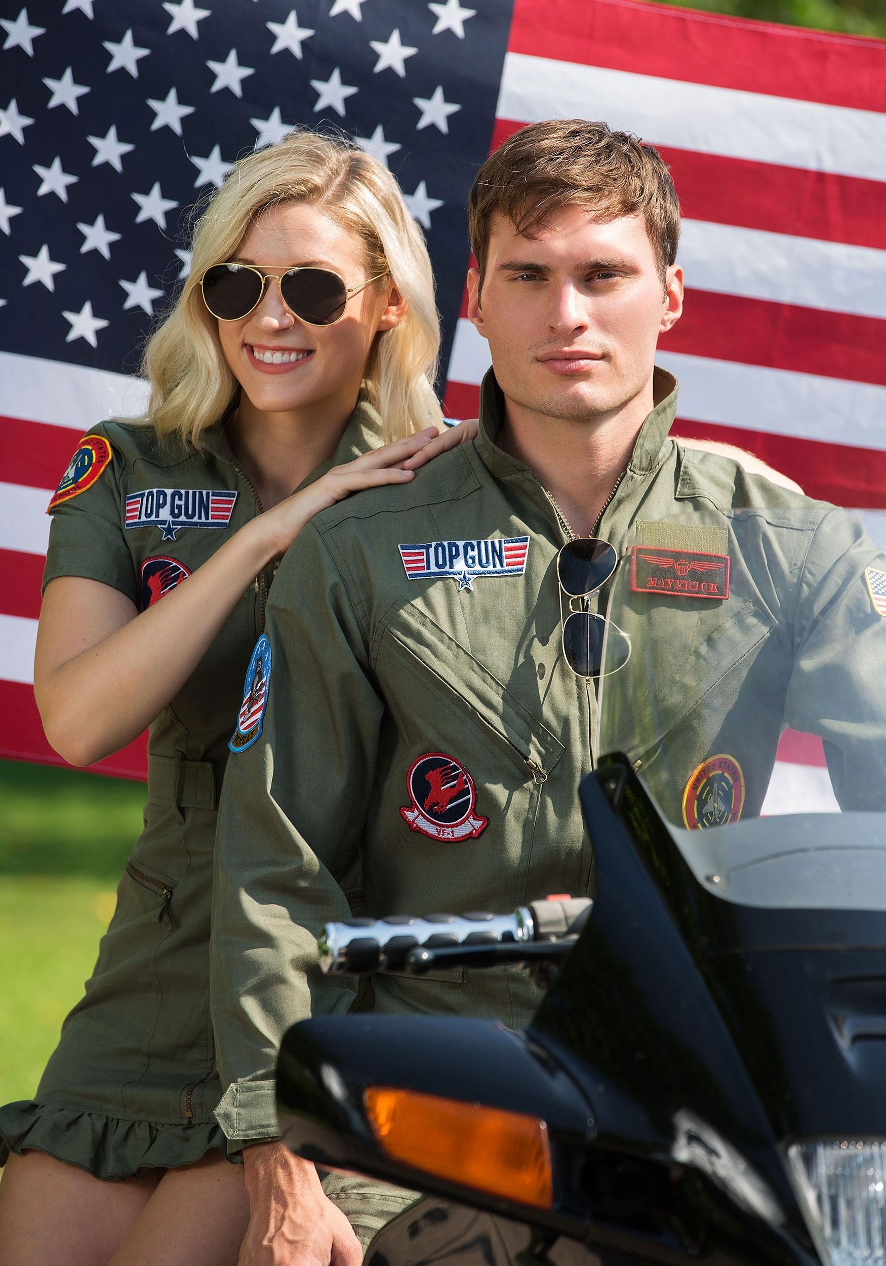 Top Gun Flight Dress Costume For Women-1658