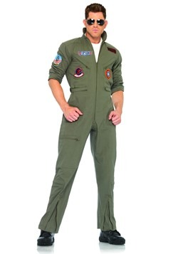 Top Gun Flight Suit for Men  sc 1 st  Fun.com : top gun costume for men  - Germanpascual.Com