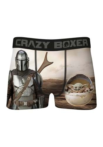 Crazy Boxer The Mandalorian and The Child Mens Boxer Brief