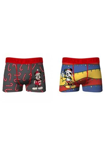 Crazy Boxer Mens Holiday Mickey 2 Pack of Boxer Briefs