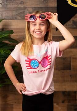 Girls Luna Lovegood Glasses Pink T-Shirt Main UPD