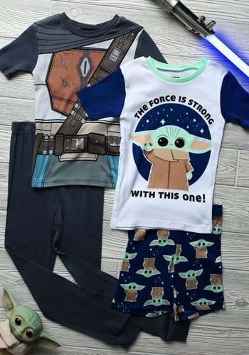 Boys' The Mandalorian 4 Piece Sleepwear Set-Update