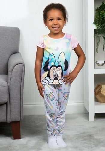 Toddler Girls Minnie Mouse Iridescent Sleep Set-Update12