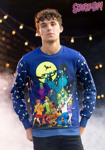Adult Scooby-Doo Glow-in-the-Dark Ugly Halloween Sweatshirt