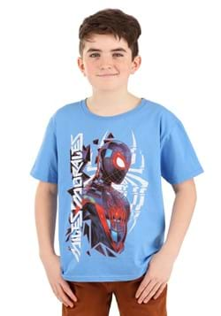 Boys Miles Morales Spider-Man Blue T-Shirt