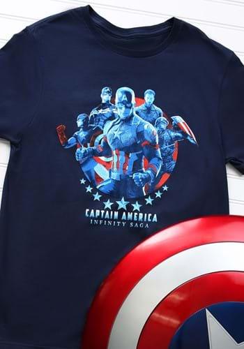 Marvel Saga Captain America Navy Adult T-Shirt Update1
