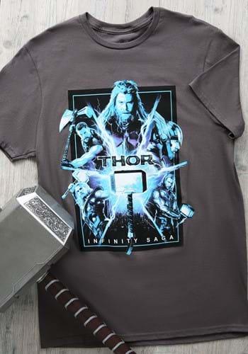 Marvel Saga Thor Adult Charcoal Shirt Update1