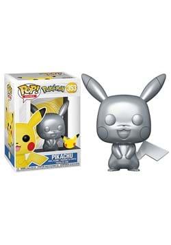 POP Games Pokemon Pikachu Silver Metallic Figure