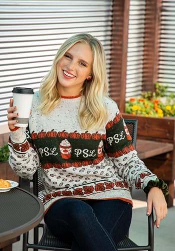 Adult Pumpkin Spice Latte Ugly Sweater