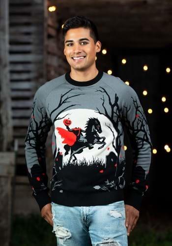 Headless Horseman Ugly Halloween Sweater-update