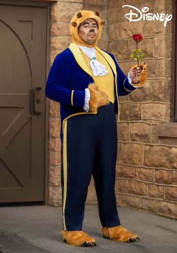 Plus Size Beauty and the Beast Mens Beast Costume-2