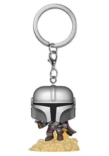 POP Keychain Star Wars The Mandalorian Mando with Blaster
