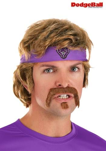 Dodgeball White Goodman Wig and Mustache Kit