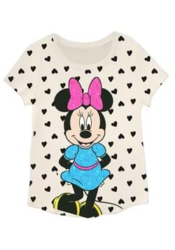Girls Minnie Front Back Tee