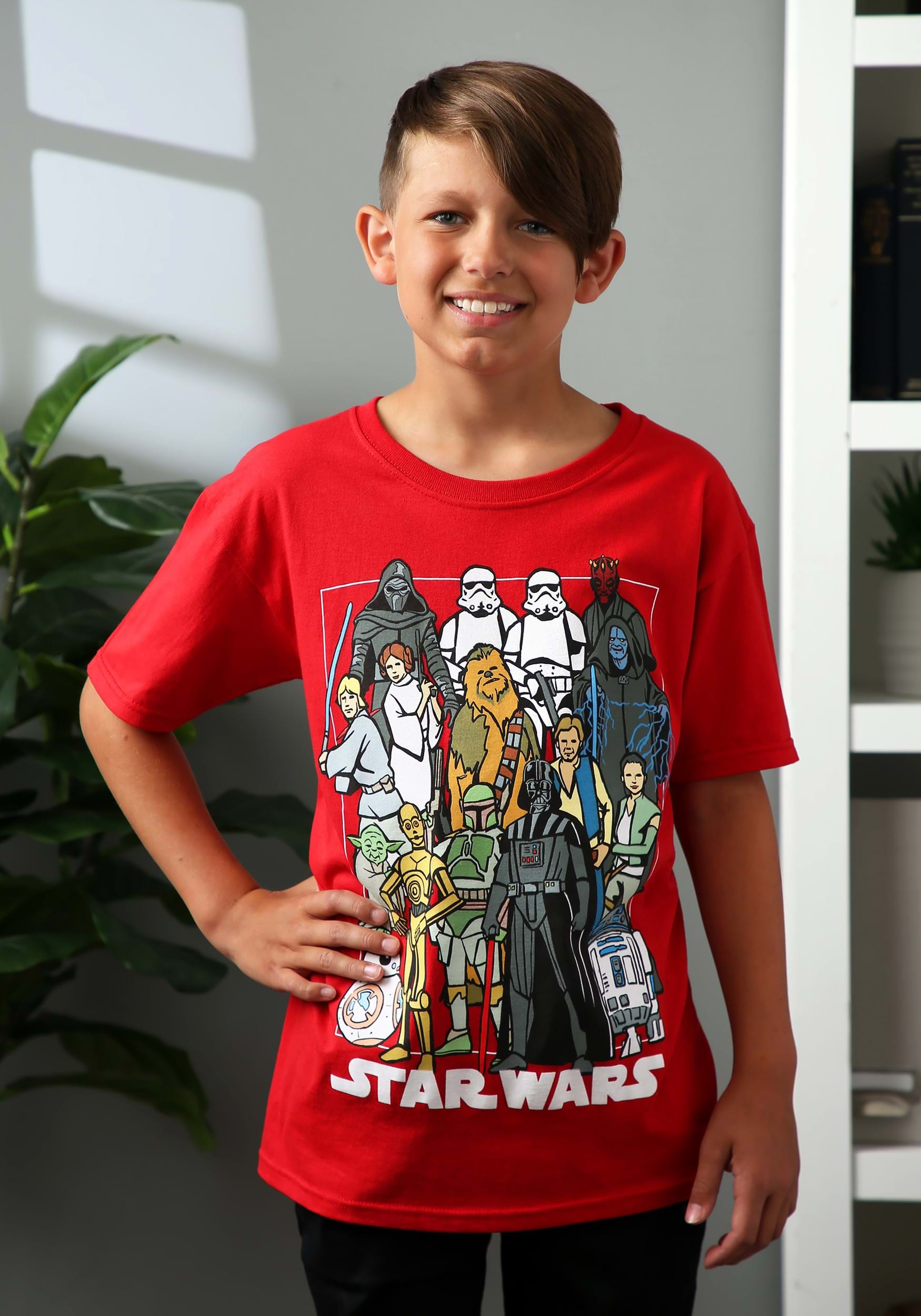 OR 2XL YOU CHOOSE BOBA FETT NEW BOY/'S STAR WARS CHARACTERS RED T-SHIRT SZ 8 MED