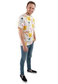 Disney Pooh Gang Balloons All Over Print Adult T Shirt