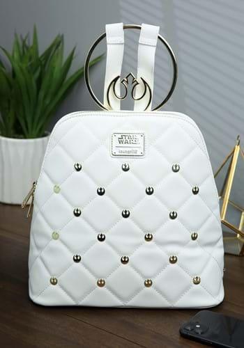 Loungefly Star Wars White Gold Rebel Hardware Mini Backpack-