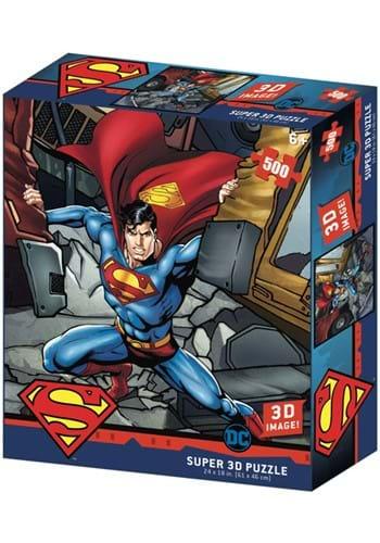 Superman Strength 500 Pc Lenticular 3D Image Jigsa