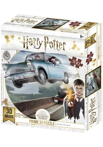 Harry Potter Ford Anglia 300 Pc Lenticular 3D Image Puzzle