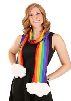 Rainbow Plush Scarf with Hidden Pocket