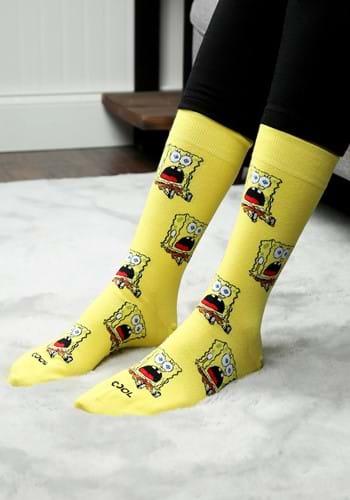 Surprised Spongebob Crew Sock