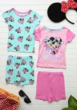 Toddler Minnie and Daisy 4 Piece Short Sleep Set