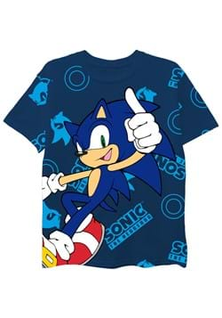 Boys Sonic Logo AOP Oversized Tee