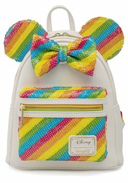 Loungefly Disney Sequin Rainbow Minnie Mini Backpa