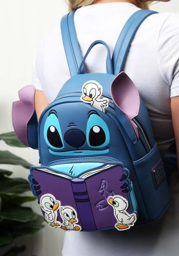 Loungefly Disneys Lilo & Stitch Story Time Duckies Backpack-