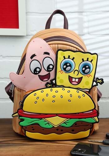 Loungefly Spongebob Krabby Patty Group Mini Backpack-1