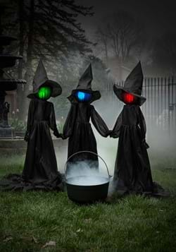 4ft Holding Hands Witches set of 3