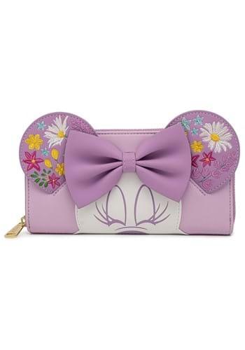 Loungefly Disney Minnie Holding Flowers Ziparound