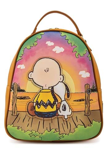 Loungefly Peanuts Charlie and Snoopy Sunset Mini Backpack