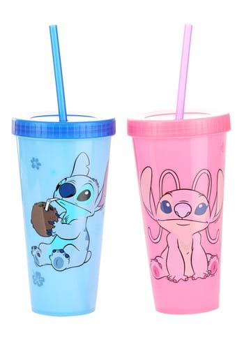 Stitch and Angel Color Changing Plastic Tumbler 2 Pack-1