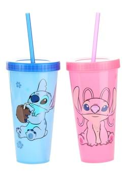 Stitch and Angel Color Changing Plastic Tumbler 2 Pack