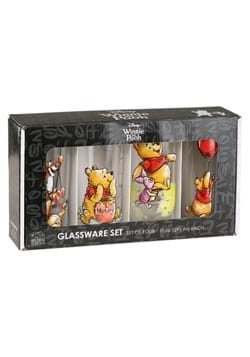 Piglet Tigger Hunny 4 pc 10 oz Glass Tumbler Set