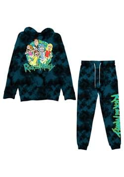 Mens Rick and Morty Tie Dye Hoodie/Jogger Set