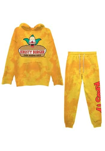 Mens The Simpsons Krusty Burger Hoodie/Jogger Set