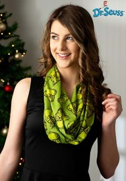 Dr Seuss The Grinch Jersey Scarf for Women-1