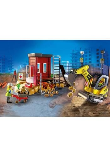 Playmobil Mini Excavator with Building Sections